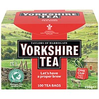 Yorkshire Tea Naked, String and Tag Tea Bags, Pack of 100