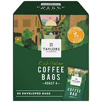 Taylors Rich Italian Coffee Bags (Pack of 80)
