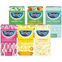 Tetley Fruit and Herbal Tea Bags Variety Boxes - 6 Boxes of 25