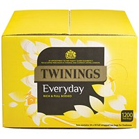 Twinings Everyday Tea Bag (Pack of 1200 Bags) PkF13681