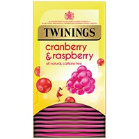 Twinings Infusion Cranberry and Raspberry Tea Bags - Pack of 20