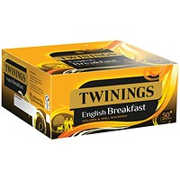 Twinings English Breakfast Envelope Tea Bags (Pack of 300)