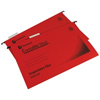 Rexel Crystalfile Flexi Standard Foolscap Red (Pack of 50)