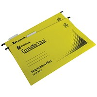 Rexel Crystalfile Flexi Standard Foolscap Yellow (Pack of 50)