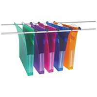 Rexel Multifile Suspension File A4 30mm Assorted (Pack of 10)