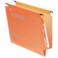 Rexel Crystalfile Classic 15mm Lateral File Orange (Pack of 50)