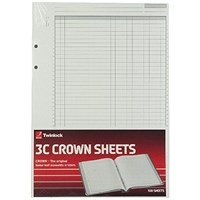 Rexel Crown 3C F9 Treble Cash Refill Sheets (Pack of 100) 75849