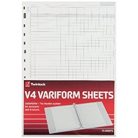 Rexel Variform V4 7-Column Cash Refill (Pack of 75) 75933