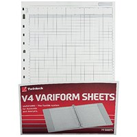 Rexel Variform V4 14-Column Cash Refill (Pack of 75) 75934