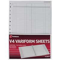 Rexel Variform V4 F1 Double Ledger Refill (Pack of 75) 75951
