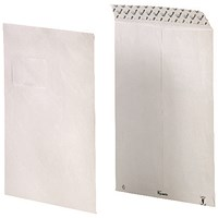 Tyvek Envelope 229x324mm C4 Window Peel and Seal White (Pack of 100) 11796