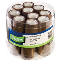 Tape 38mmx10m 30 Rolls Ultra Label Buff (Pack of 30) RT08083810/30