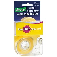 Tape and Dispenser 19mmx33m Easy Tear 2 Rolls Clear (Pack of 24)