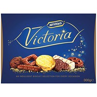 McVities Victoria Carton 300g (Assortment of milk, dark and white chocolate)