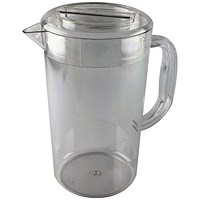 Clear Polycarbonate 1.4 Litre Jug With Lid (Completely dishwasher safe)