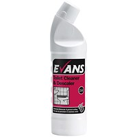 Evans Toilet Cleaner and Descaler 1 Litre (Removes limescale and soiling)
