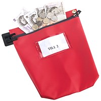 Go Secure High Security Mailing Pouch, 267x267x50mm, Red