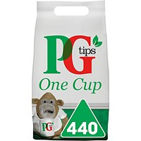 PG Tips 1 Cup Pyramid Tea Bags - Pack of 440