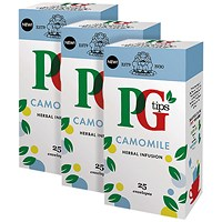 PG Tips Camomile Envelope, Pack of 25, 3 For 2