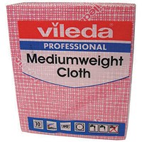 Vileda Medium Weight Cloth Red (Pack of 10) 106400