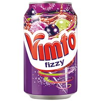 Vimto 300ml Can Carbonated Fruit Juice Drink - Pack of 24