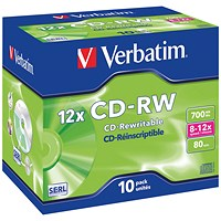 Verbatim CD-RW Cased - Pack of 10