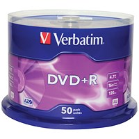 Verbatim DVD+R Spindle - Pack of 50