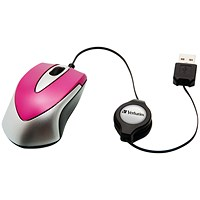 Verbatim Go Mini Optical Travel Mouse Hot Pink