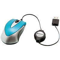 Verbatim Go Mini Optical Travel Mouse Caribbean Blue
