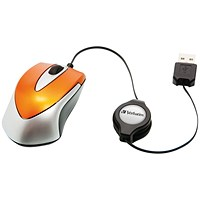 Verbatim Go Mini Optical Travel Mouse Volcanic Orange