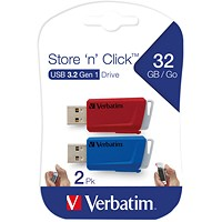 Verbatim Store and Click USB 3.2 32GB (Pack of 2)