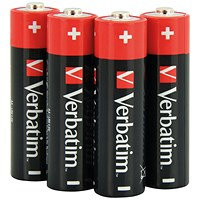 Verbatim AA Alkaline Batteries (Pack of 4)