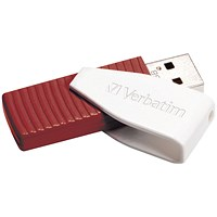 Verbatim Store n Go Swivel USB 2.0 Drive 16GB Red 49814