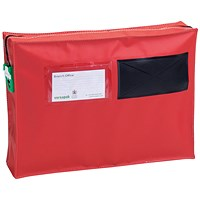 Versapak Mail Pouch With Gussett 355x250x75mm Small Red ZG1_T2SEAL
