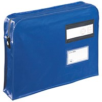 Go Secure Gusset Mailing Pouch, 475x330x76mm, Blue