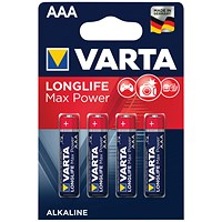 Varta Longlife Max Power AAA Battery (Pack of 4)