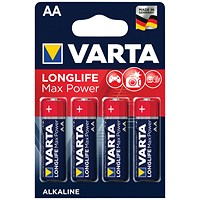 Varta Longlife Max Power AA Battery (Pack of 4)