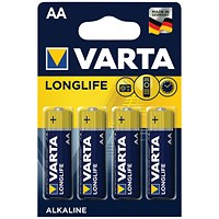 Varta Longlife AA Battery (Pack of 4)