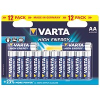 Varta AA Long Life Battery Alkaline (Pack of 12)