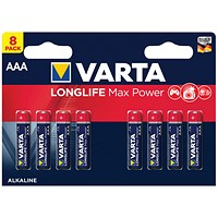 Varta Longlife Max Power AAA Battery (Pack of 8)