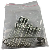 Wallace Cameron First-Aid Safety Pins, Assorted Sizes, Pack of 36