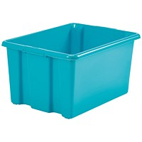 Stack And Store 52 Litres Large Teal Storage Box