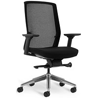 Bestuhl J1 Black Mesh Task Chair - Chrome Base