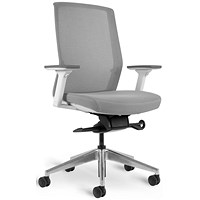 Bestuhl J1 White & Grey Mesh Task Chair