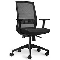 Bestuhl S30 High Back Mesh Task Chair - Black/Grey Stripes