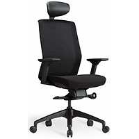 Bestuhl J1 Black Mesh Task Chair With Headrest