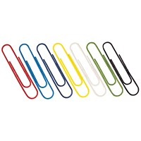 Paperclips Coloured 32mm (Pack of 1000)