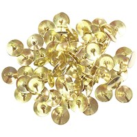Brass Drawing Pins Brass 9.5mm (Pack of 1000)