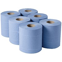 1-Ply Blue Centrefeed Rolls 300mx175mm (Pack of 6) CBL290S