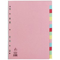 Everyday A4 Manilla 15-Part Divider - Multi-Colour Tabs